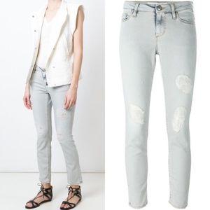 IRO Distressed Skinny Crop Jeans